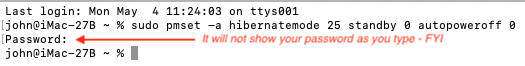 Terminal does not show your password as you type.